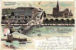 CPA  Rheinlust Bie Strassburg - M. Wallrapp Restaurateur - Brücke  (387139) - France