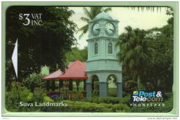 Fiji - 1995 Suva Landmarks - $3 Clock Tower - FIJ-059 - VFU - Fidschi