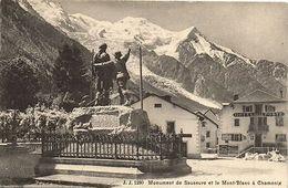 CPA J. J. 1280 Monument De Saussure Et Le Mont-Blanc A Chamonix (124429) - Non Classés