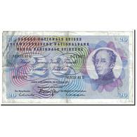 Suisse, 20 Franken, 1972, KM:46t, 1972-01-24, TB - Suiza