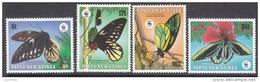 PAPUA NEW GUINEA, 1988 WWF BUTTERFLIES 4 MNH - Papua New Guinea