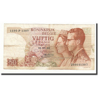 Belgique, 50 Francs, KM:139, 1966-05-16, TB - [ 6] Staatskas