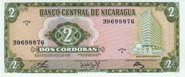 NICARAGUA 2 CORDOBAS BANKNOTE 1972 PICK NO.121 UNCIRCULATED UNC - Nicaragua