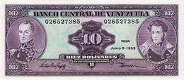 VENEZUELA 10 BOLIVIARES BANKNOTE 1995 PICK NO.61 UNCIRCULATED UNC - Venezuela