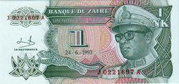 ZAIRE 1 NOUVEAU LIKUTA BANKNOTE 1993 PICK NO.47 UNCIRCULATED UNC - Zaire