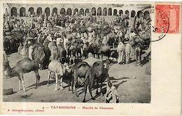 CPA TUNISIE-Tatahouine-Marché De Chameaux (268693) - Tunisie