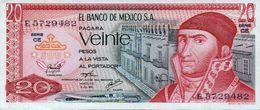 MEXICO 20 PESOS BANKNOTE 1976 PICK NO.64 UNCIRCULATED UNC - Mexique