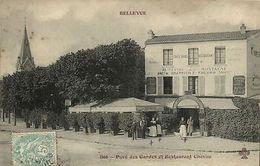 CPA Bellevue (Dep.92) Pavé Des Gardes Et Restaurant Chevau (44243) - Altri Comuni