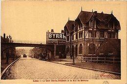 CPA LENS La Gare Sainte Elisabeth Et La Rue De Bethune (405748) - Non Classés