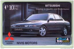 Fiji - 1996 Mitsubishi - Nivis Motors - $10 Galant - FIJ-082 - VFU - Fiji