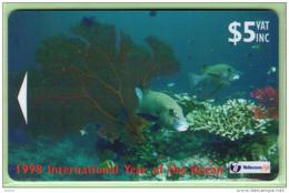 Fiji - 1998 Year Of The Oceans - $5 Sweetlip Fish - FIJ-121 - FU - Fiji