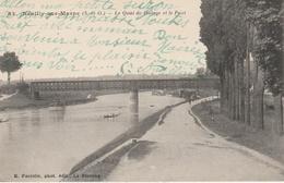 17 / 8 / 20  -   NEUILLY - SUR - MARNE ( 93 ) - LE  QUAI  DE  HALAGE   ET  LE  PONT - Neuilly Sur Marne
