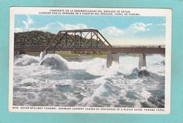 Old Postcard Of Gatun Spillway Channel,Panama Canal, Panama,Y44. - Panama