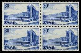 SAARLAND 1952 Nr 332 Postfrisch VIERERBLOCK X7A13F6 - 1947-56 Allierte Besetzung