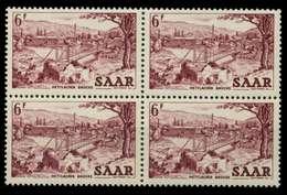 SAARLAND 1952 Nr 324 Postfrisch VIERERBLOCK X7A143E - Ungebraucht