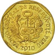 Pérou, 10 Centimos, 2010, Lima, TTB, Laiton, KM:305.4 - Pérou