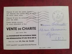 PP LYON Vente De Charité - Marcofilie (Brieven)
