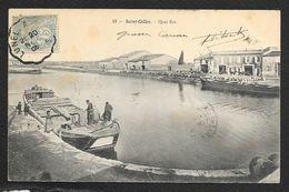 SAINT GILLES Quai Est Bateaux Barriques (Helmlinger) Gard (30) - Saint-Gilles