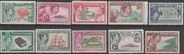 """Pitcairn-Islands 1-10 """"König Georg VI""""+Szenen Der """"Bounty"""" Mint / * / Ungebraucht+MNH / ** / Postfrisch - Briefmarken"""