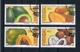Venda 1983 Früchte Mi.Nr. 82/85 Kpl. Satz Gest. - Venda