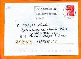 PAS De CALAIS, Calais, Flamme SCOTEM N° 19034, Porte De France, Mégras - Sellados Mecánicos (Publicitario)