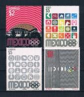 Mexiko 1968 Olympia Mi.Nr. 1286/87/91/92 ** - Mexico