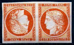 SUPERBE CERES En Paire Du N°7A De SPIRO Tête Bêche NEUF** LUXE 1er Choix - 1853-1860 Napoleon III