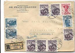 LETTRE  Recommandée   D ' Autriche   1950   Vers Thionville - 1945-60 Briefe U. Dokumente