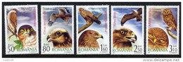 ROMANIA 2007 Birds Of Prey Set Of 5 MNH / **.  Michel 6184-88 - 1948-.... Republics