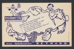 Buvard - TEINTURERIE REYNARD - PIERRETTE BLANCHISSEUSE - Buvards, Protège-cahiers Illustrés