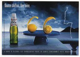 Carte Publicitaire--2002--Bière Kronenbourg 1664--(citron) - Alcohols
