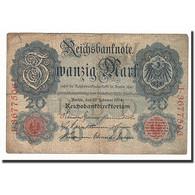Allemagne, 20 Mark, KM:46b, 1914-02-19, TB - [ 2] 1871-1918 : German Empire