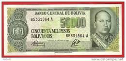 BILLET - BOLIVIE - 50.000 Pesos Bolivianos Du : Ley De 05 06 1984 - Pick 170 - Bolivië