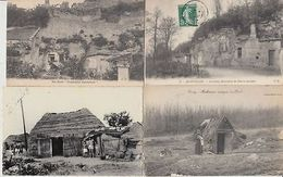 CAVE HOUSES MAISONS TROGLODYTES WOOD HOUSES FRANCE 49 CPA (mostly Pre-1940) - Autres Collections