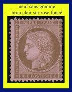 N° 58 CÉRÈS IIIe RÉPUBLIQUE 1875 - BRUN CLAIR SUR ROSE FONCÉ - NEUF SANS GOMME - - 1871-1875 Cérès