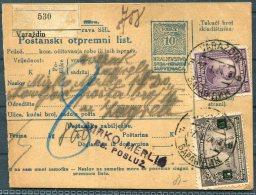 1924 Varazdin Slovenaca, Postanski Otpremni List - Zagreb - 1919-1929 Kingdom Of Serbs, Croats And Slovenes