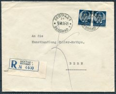 1938 Belgrade Beograd Registered Cover - Art Dealer, Bern, Switzerland. Kunsthandlung Hiller Mathys - 1931-1941 Kingdom Of Yugoslavia