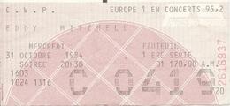 Paris Palais Des Sports Eddy Mitchell  / Delc 1080 - Eintrittskarten