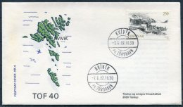 1982 Faroe Islands / Faroyar Denamrk Philatelic Exhibition TOF 40 Tastrup Cover. Kvivik Pr. Torshavn - Faroe Islands