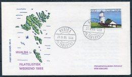 1985 Faroe Islands / Faroyar Denamrk Philatelic Exhibition Esbjerg Cover. Hvalba Pr.Torshavn. Lighthouse - Faroe Islands