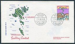 1986 Faroe Islands / Faroyar Denamrk Philatelic Exhibition Esbjerg Cover. Nolsoy Pr.Torshavn. Europa - Faroe Islands
