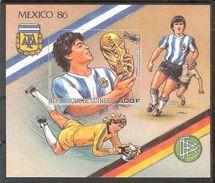 GUINEA  World Cup-86(Maradona),space  S/Sheet Imper. MNH - World Cup