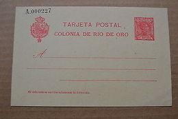 Rio De Oro Spain Spanish Edifil 3 Postal Stationery - Non Classificati