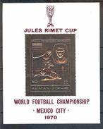 AJMAN World Cup-70 Gold Foil  S/Sheet  MNH - World Cup