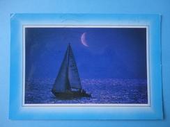 Riviera Adriatica - Controluce - Notturno Mare E Barca A Vela - Controluce