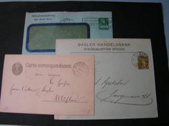 CH 3 Alte Privat GS Und  Briefe - Briefmarken