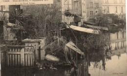 14 CAEN Crue De L'Orne 1er Décembre 1910  Le Canal Robert - Caen