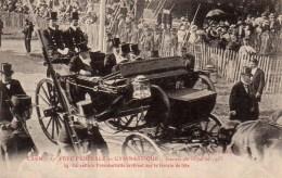 14 CAEN 37e Fête Fédérale De Gymnastique Journée Du 16 Juillet 1911 N°54 La Voiture Présidentielle Arrivant Sur Le Terra - Caen