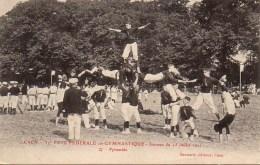 14 CAEN 37e Fête Fédérale De Gymnastique Journée Du 15 Juillet 1911 N°27 Pyramide - Caen
