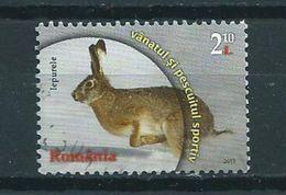2013 Romania Feldhase,animals,dieren,tiere Used/gebruikt/oblitere - 1948-.... Républiques